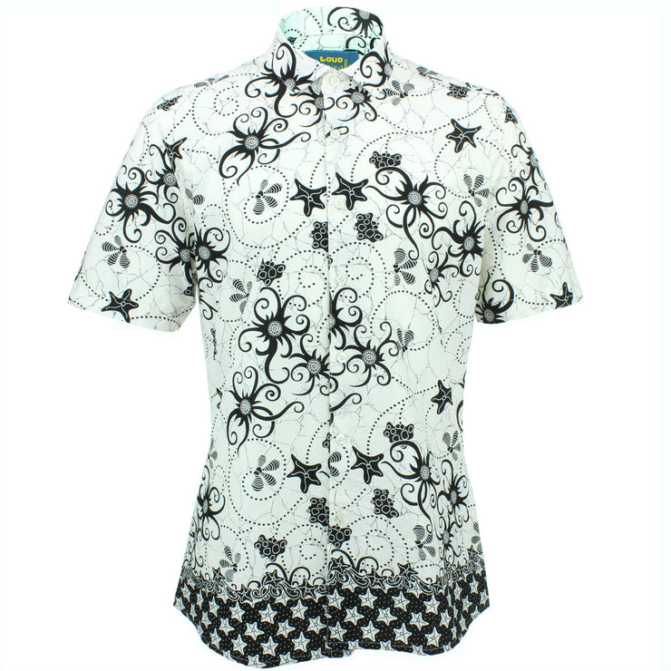 Slim Fit Short Sleeve Shirt - Tendrils