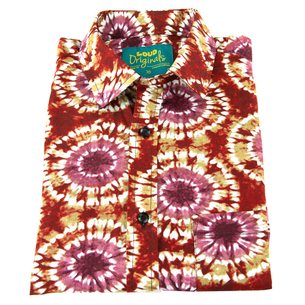 Regular Fit Short Sleeve Shirt - Tie Dye Eye