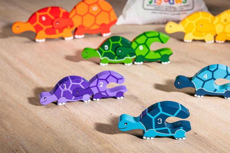 Handmade Wooden Jigsaw Puzzle - Number Tortoise