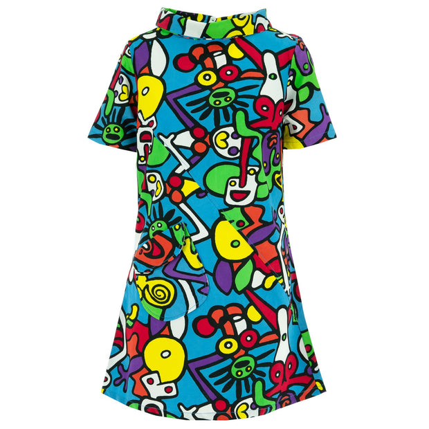 Sixties Shift Dress - Tiffy Blue