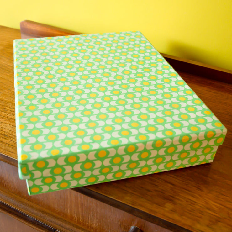 Handmade Luxury A4 Deep Presentation Shirt & Gift Box - Lime