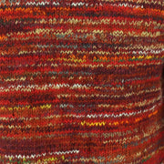 Chunky Wool Space Dye Knit Jumper - Red Multi