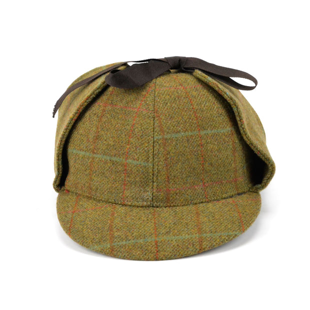 DuPont Teflon coated tweed deerstalker hat - Dark green