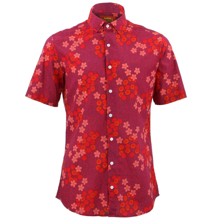 Tailored Fit Short Sleeve Shirt - Spiral Garden