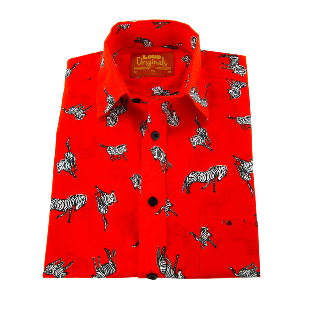Regular Fit Short Sleeve Shirt - The Red Zebra