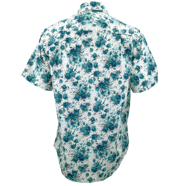 Regular Fit Short Sleeve Shirt - Mint Roses