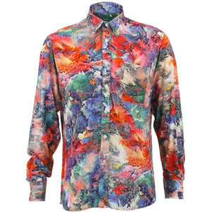 Regular Fit Long Sleeve Shirt - Volcano