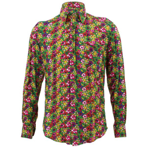 Tailored Fit Long Sleeve Shirt - Multi-coloured Floral