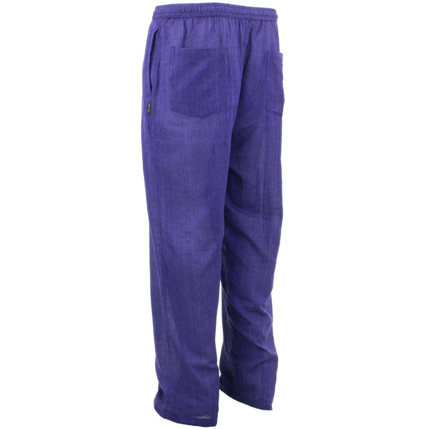 Classic Nepalese Lightweight Cotton Plain Trousers Pants - Purple