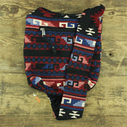 Cotton Canvas Sling Shoulder Bag - Aztec Dark Multi