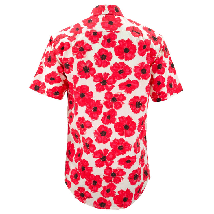 Regular Fit Short Sleeve Shirt - Poppies