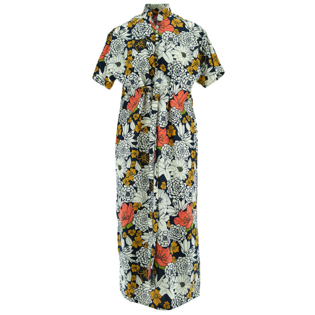 Mandarin Maxi Dress - Super Floral