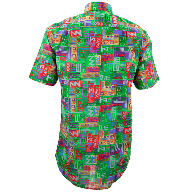 Regular Fit Short Sleeve Shirt - Aztec