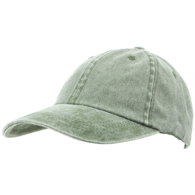 Pre-washed Baseball Cap - Green