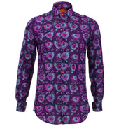 Tailored Fit Long Sleeve Shirt - Paint Splatter