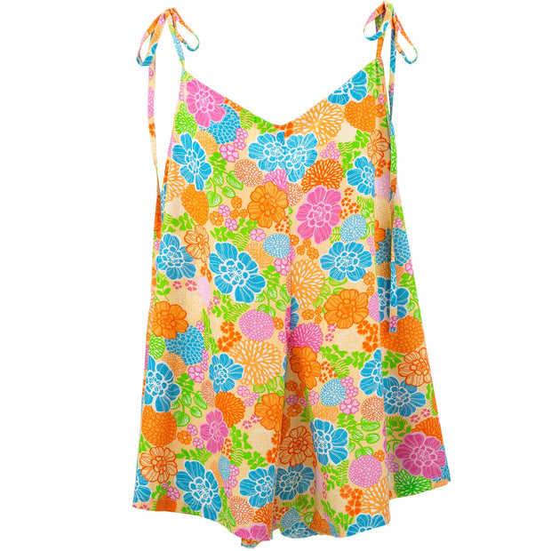 Short Jumpsuit - Sunshine Flower