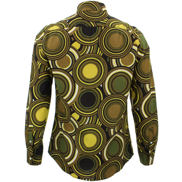 Tailored Fit Long Sleeve Shirt - Retro Circles