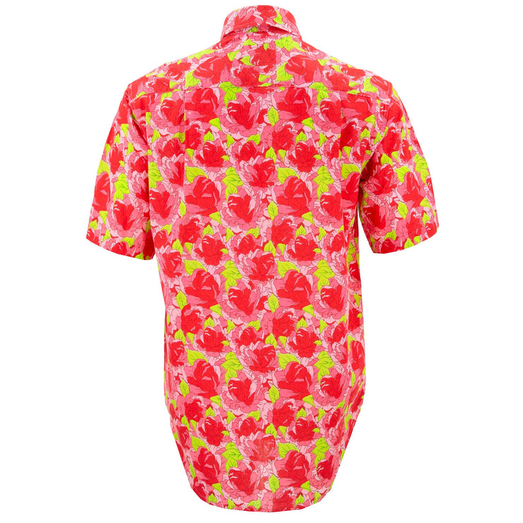 Regular Fit Short Sleeve Shirt - Red Floral