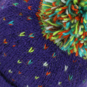 Tik Tik Wool Bobble Beanie Hat - Purple