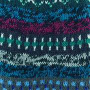 Chunky Wool Knit Abstract Pattern Jumper - Blue