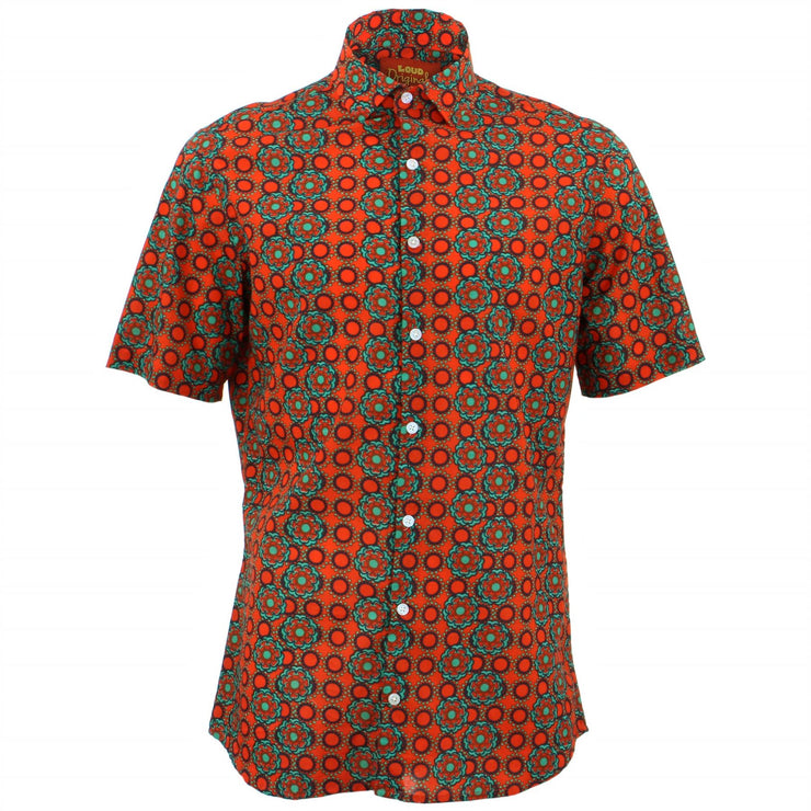 Tailored Fit Short Sleeve Shirt - Poppy Dots