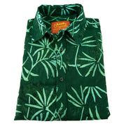 Regular Fit Long Sleeve Shirt - Tropical Leaf - Green
