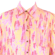Regular Fit Short Sleeve Shirt - Yellow & Pink Abstract