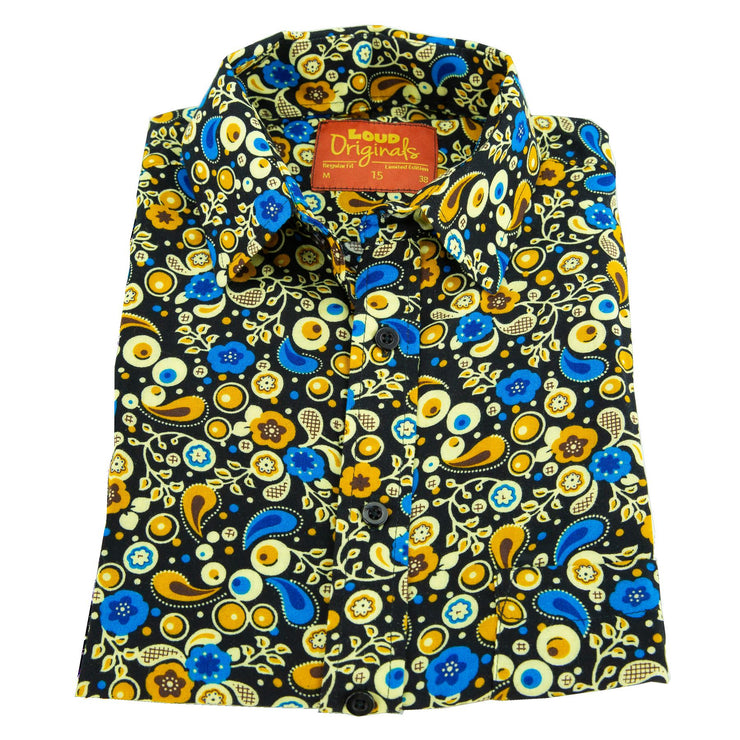 Regular Fit Short Sleeve Shirt - Paisley Garden