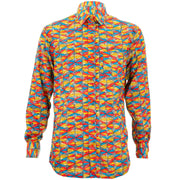 Regular Fit Long Sleeve Shirt - Signal Circles