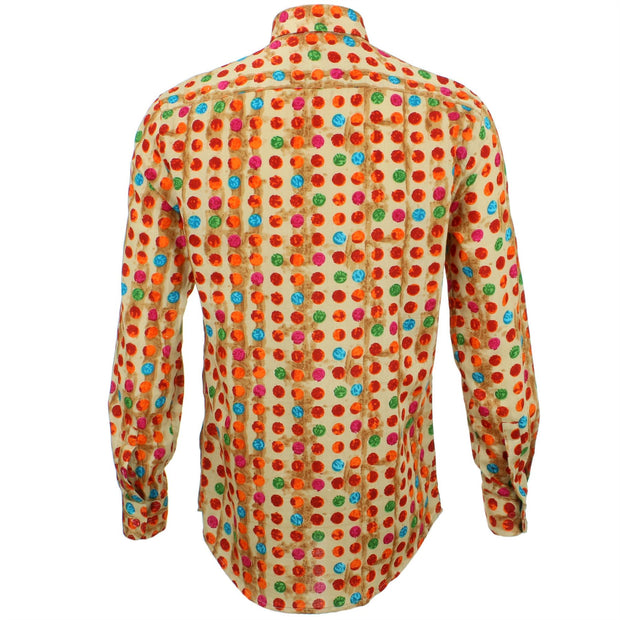Tailored Fit Long Sleeve Shirt - Multi Dotty