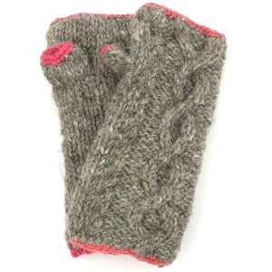 Wool Knit Arm Warmer - Cable - Oatmeal