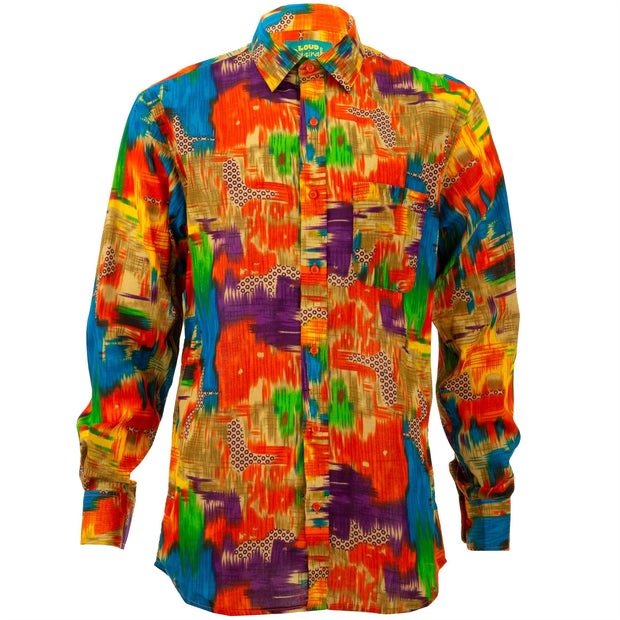 Regular Fit Long Sleeve Shirt - Blur