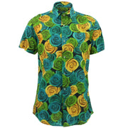 Tailored Fit Short Sleeve Shirt - Roses