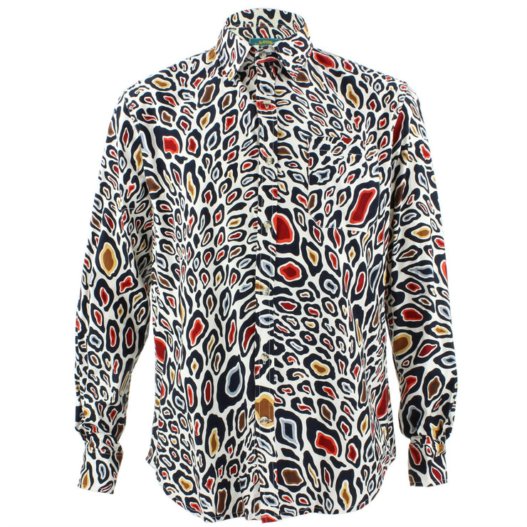 Tailored Fit Long Sleeve Shirt - Abstract Animal Print