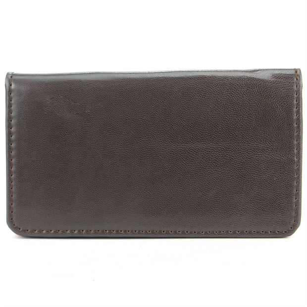 Real Leather Colourful Purse Wallet - Brown