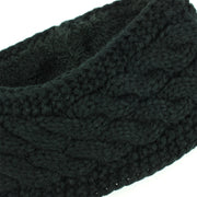 Knitted Ribbed Headband - Black