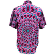 Regular Fit Short Sleeve Shirt - Peacock Mandala - Pink