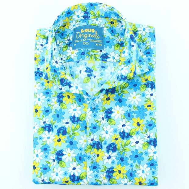 Slim Fit Long Sleeve Shirt - Daisies