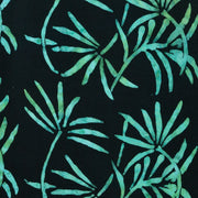 Regular Fit Short Sleeve Shirt - Tropical Leaf - Black