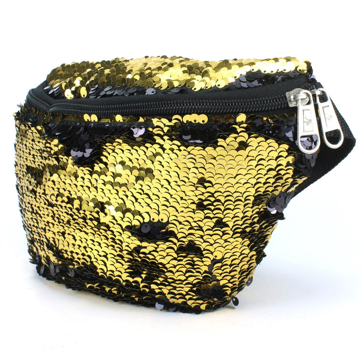 Sequin Bumbag - Gold