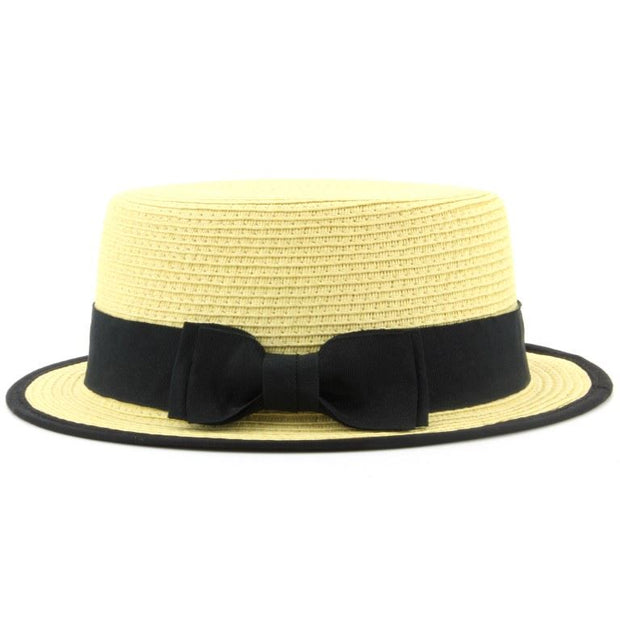 Short Brim Straw Paper Boater Hat