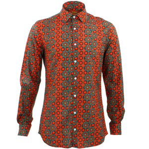 Tailored Fit Long Sleeve Shirt - Poppy Dots