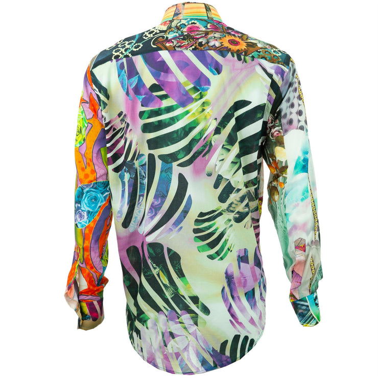Regular Fit Long Sleeve Shirt - Random Mixed Panel