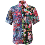 Regular Fit Short Sleeve Shirt - Random Mixed Panel - Floral