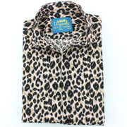 Slim Fit Short Sleeve Shirt - Leopard