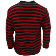 Chunky Wool Knit Jumper - Red Black