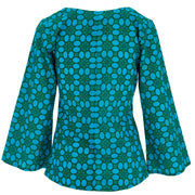 Wrap Top with Bell Sleeve - Geo Delight