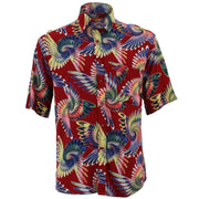 Regular Fit Short Sleeve Shirt - Psychedelic Feather