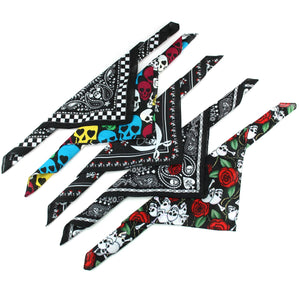 Bandana Face Cover Mask - Set of 5 - Skulls