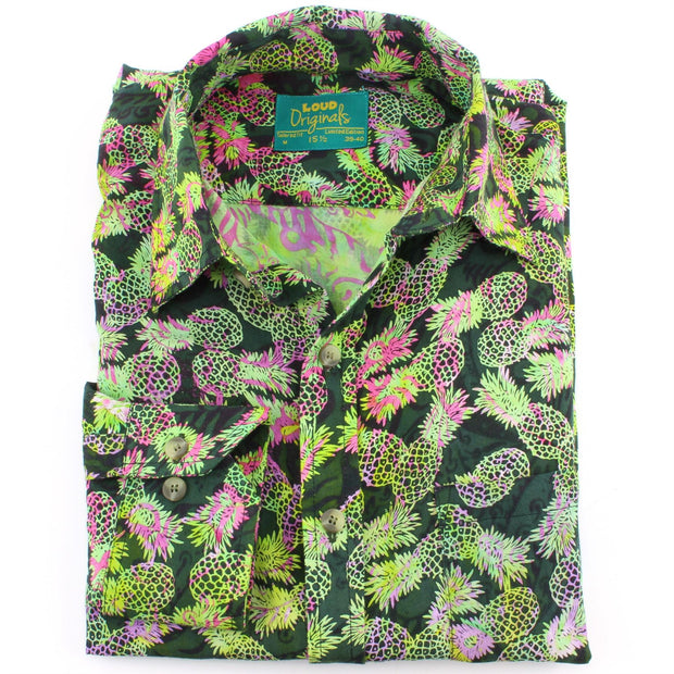 Tailored Fit Long Sleeve Shirt - Multi-coloured Pineapples